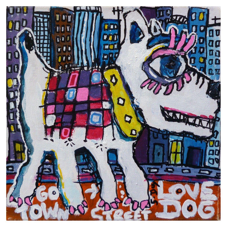 DOG EN VILLE STREET